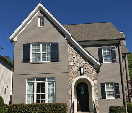 Brick House Exterior Painting Raleigh