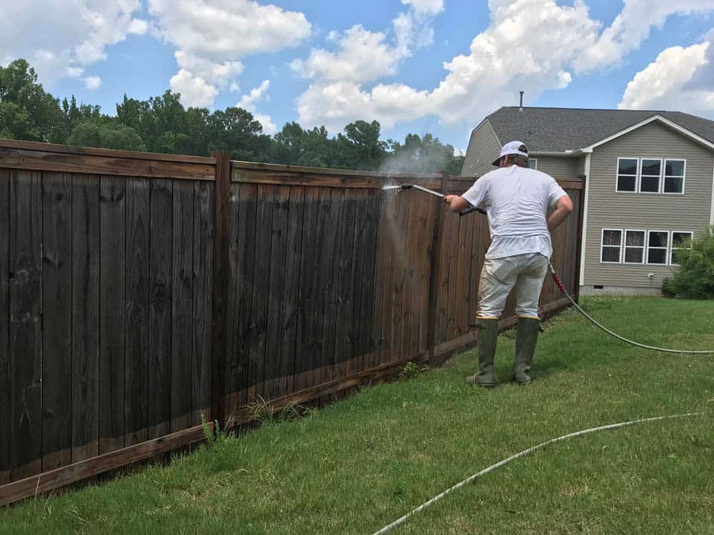 fence pressure washing raleigh
