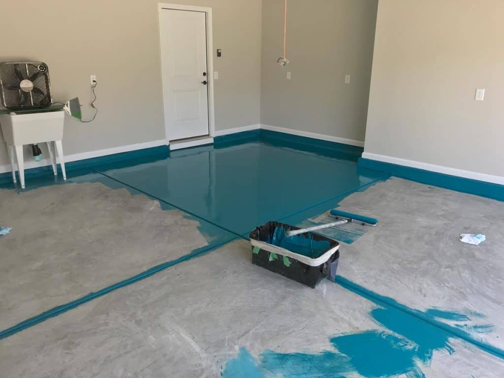 garage floor painting company raleigh