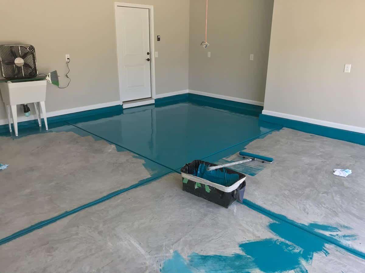 garage floor painting company raleigh