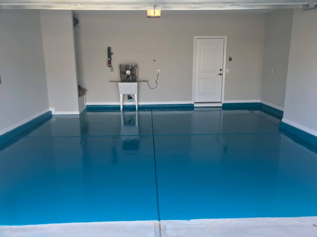 raleigh garage floor painters with epoxy